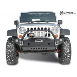 CRUSADER FRONT WINCH BUMPER W/HOOP, POWDERCOATED